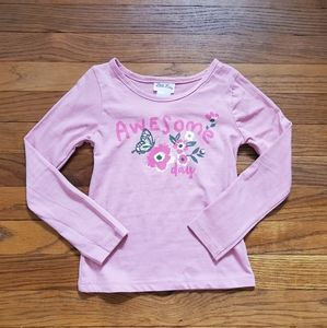 NEW Little Lass long sleeve shirt Awesome day pink